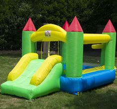 Bounce House Inflatable Kids Jumper Jump Bouncy Castle Moonwalk Slide w/ Blower Bank Holiday Sales, August Bank Holiday, Kids Bouncy Castle, Commercial Bounce House, Things That Bounce, Cool Things To Buy, Inflatable Slide, Outdoor Parties, Garden Parties