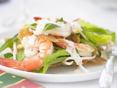 The best Prawn cocktail with chilli and lime mayonnaise recipe you will ever find. Welcome to RecipesPlus, your premier destination for delicious and dreamy food inspiration. Prawn Salad, Prawn Cocktail, Mayonnaise Recipe, Australian Food, Shellfish Recipes, Wonton Wrappers, Spring Rolls, Asian Recipes, Food Inspiration