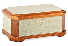 2-Tone Rustic Burl Wooden Jewelry Box on OneKingsLane.com