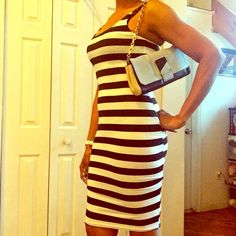 🆕 DARLING BLACK/WHITE STRIPED STRAP DRESS 🆕 Black/white striped dress. Adorable black/white striped dress with adjustable straps & lightweight. Very comfortable, form fitting, doesn't ride up, easy and stunning on. One size fits most. Length from front strap is 36 1/4 ins/ W15 1/2 ins. Reasonable offers/bundles welcome, no trades or holds. My environment is clean/organized/pet/smoke free. Please make any inquires, all sales are final on PM. Thank you for shopping my boutique. #poshstyle…