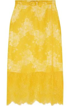 Lemon lace Concealed zip fastening along side 82% nylon, 18% cotton; lining: 70% cotton, 30% silk Dry clean