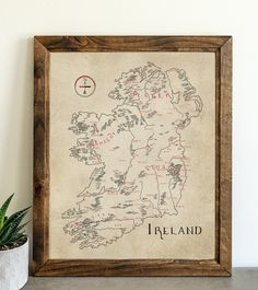 Ireland Make A Map, Card Stock, Ireland, Vintage World Maps, How To Draw Hands, Lord, History, Canvas, Drawings