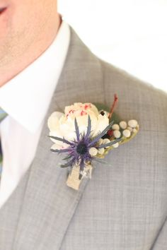 Give him a statement #boutonniere for the big day!