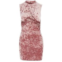 Topshop Petite Velvet Twist Front Dress (255 HRK) ❤ liked on Polyvore featuring dresses, red dress, bodycon party dresses, party dresses, bodycon dress and long sleeve bodycon dress