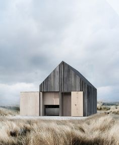Beautiful boat house located on the beach at Svallerup Strand, Denmark, by Copenhagen-based architecture firm WE Architecture Follow Style and Create at Instagram | Pinterest | Facebook | Bloglovin
