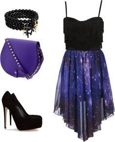 """""""3"""" by autumn-wright on Polyvore Pretty Outfits, Pretty Dresses, Beautiful Dresses, Purple Outfits, Dress Outfits, Casual Outfits, Dress Up, Emo Outfits, Dance Dresses"""