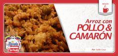 Los rolos hacen presencia en La Receta Mundialista con arroz con pollo y camarón.
