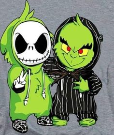 Check out this awesome 'Jack+Skellington+and+Grinch' design on Cute Disney Drawings, Kawaii Drawings, Cartoon Drawings, Cartoon Art, Cute Drawings, Disney Phone Wallpaper, Cartoon Wallpaper Iphone, Cute Cartoon Wallpapers, Nightmare Before Christmas Drawings