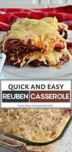 Mouthwatering Reuben Casserole perfect for dinner or weekend lunch! This quick and easy recipe is family-friendly and will quickly […] Dinner Recipes Easy Quick, Quick Easy Meals, Easy Casserole Recipes For Dinner Beef, Easy Recipes, Weeknight Recipes, Weeknight Dinners, Easy Dinners, Recipes Dinner, Healthy Recipes