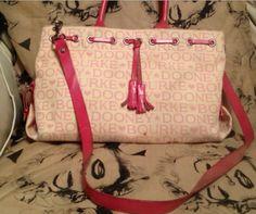 DOONEY & BURKE Pink and Creme Bag