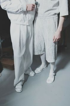 All white and sandals at Agi  Sam SS15, London Collections: Men. More images here: http://www.dazeddigital.com/fashion/article/20313/1/agi-sam-ss15