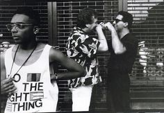 """Spike Lee  """"I live in New York City, the stories of my films take place in New York; I'm a New York filmmaker.""""  """"The New York of Do The Right Thing is very different from the New York of Red Hook Summer. You don't have that animosity with the cops. You don't have the animosity between Italian-Americans and African-Americans you did. I have friends at Fort Hamilton, when school came, they had to run to the train station. Vinny wasn't playing!"""""""