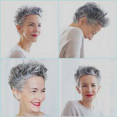 Got a pixie haircut? Fancy an unexpected short hair styling tip? Here's one – use Nivea Creme! Catherine Walsh – Senior Vice President, Coty – on her amazing g… Haircut For Older Women, Older Women Hairstyles, Pixie Hairstyles, Pixie Haircut, Prom Hairstyles, Celebrity Hairstyles, Hairstyle Ideas, Easy Hairstyles, Hair Ideas