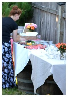 Fun pictures from a casual backyard end of summer party