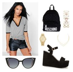 """""""Untitled #14"""" by eua-anagnwstou on Polyvore featuring Boohoo, Nly Shoes, Moschino, Fendi, Accessorize, Lana and Michael Kors"""