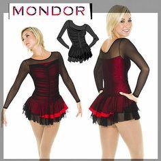 New Competition Skating Dress CM 8/10 Black Mesh Red Mondor 635! Akkk My dress! So excited!