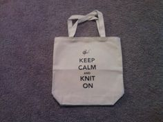 Keep Calm and Knit On Tote Bag by TheGoodLifebyKatie on Etsy, $10.00