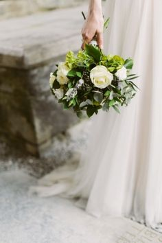 Greenery with a pop of roses: http://www.stylemepretty.com/2015/06/03/ireland-destination-wedding-at-corcomroe-abbey/ | Photography: Katie Mallory - http://www.katimallory.com/