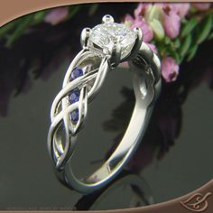 Beautiful Braided Mounting - I love Love LOVE this Celtic inspired ring! #jewelryworks #engagement