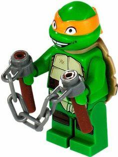 79120 Teenage Mutant Ninja Head Modified NEW LEGO Michelangelo TMNT