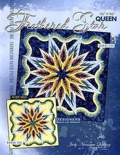 Quilt Patterns 83957: Feathered Star Foundation Paper Pieced Judy Niemeyer Queen Quilt Pattern -> BUY IT NOW ONLY: $74.95 on eBay!