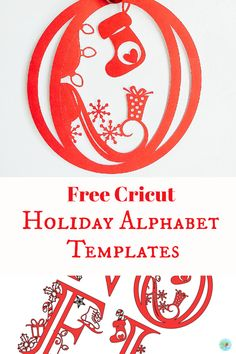 Alphabet Letter Templates, Alphabet Letters, Cricut Craft Room, Cricut Vinyl, Cricut Fonts, Cricut Christmas Cards, Christmas Holidays, Christmas Alphabet, Christmas Craft Projects