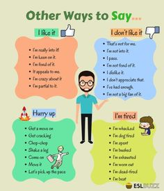 Other Ways to Say… – ESLBuzz Learning English Other Ways to Say… – ESLBuzz Learning English,Nyelvtan Other Ways to Say… Related posts:Set of Gingerbread man opposites for kids - crosswordA 5 Minute Activity for. English Learning Spoken, Teaching English Grammar, English Writing Skills, English Vocabulary Words, Learn English Words, English Phrases, Grammar And Vocabulary, English Language Learning, English Lessons
