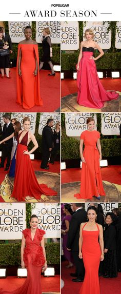 Red Is the Color of Hollywood Trendsetters #GoldenGlobes