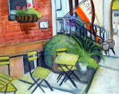 I love watercolors.  This one is by local artist Averil Smith Barone
