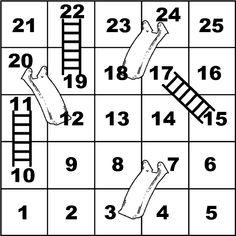 Échelles et toboggans Diy Games, Math Games, Printable Board Games, Early Math, Kids Class, Math Notebooks, School Games, Summer School, School Projects