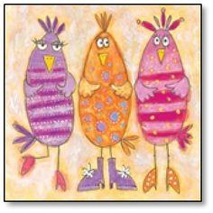 Artimals Birds Greetings Card