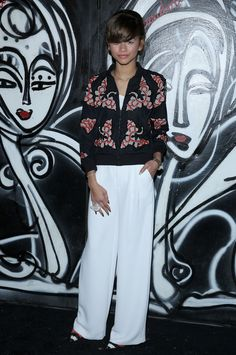Zendaya Coleman at the ALICE + OLIVIA Fall 2014 Presentation. #NYFW