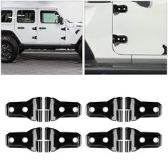 2X ABS Blue Auto Roof Stereo Box Speaker Ring Cover Trim for Jeep Wrangler 07-16