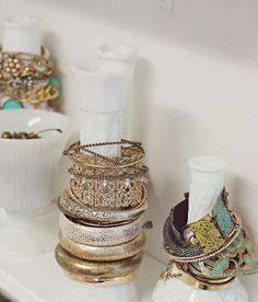 How To Store Bangles Charity Shop Candlesticks And Bangle - Bangle bracelet storage ideas