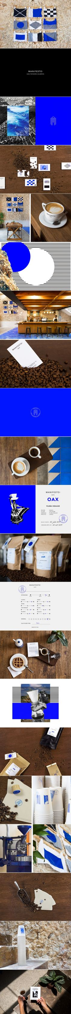 Manifesto coffee house brand identity by Bienal Comunicacion Coffee Shop Branding, Cafe Branding, Branding Ideas, Branding Agency, Brand Packaging, Packaging Design, Branding Design, Logo Design, Graphic Design