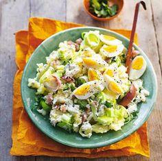 Preistamppot met rauwe ham en ei, lekker en slank!