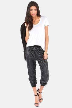 Gentle Fawn Rocha Black Sequin Harem Pants at LuLus.com!