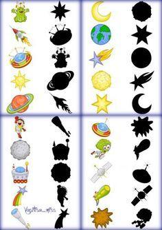 Дидактическая игра найди тень - Космос