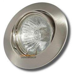 Sets Halogen Einbaustrahler Jan - 230Volt Downlights. Einbauspots Dimmbar und Schwenkbar. Mit Gu10 Hochvolt Halogenlampen. Betrieb ohne Trafo möglich.