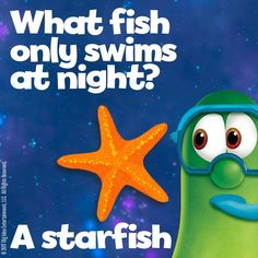 What fish only swims at night? Puns Jokes, Jokes And Riddles, Funny Jokes For Kids, Corny Jokes, Good Jokes, Funny Puns, Fish Jokes, Funny Riddles, Hilarious