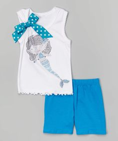 Love this Turquoise Mermaid Tank & Shorts - Toddler & Girls by Beary Basics on #zulily! #zulilyfinds http://www.zulily.com/invite/kripley070
