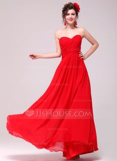 Evening Dresses - $132.19 - A-Line/Princess Sweetheart Floor-Length Chiffon Evening Dress With Ruffle (017014006) http://jjshouse.com/A-Line-Princess-Sweetheart-Floor-Length-Chiffon-Evening-Dress-With-Ruffle-017014006-g14006