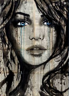 "Saatchi Art Artist Loui Jover; Drawing, ""for a moment"" #art"
