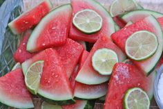 Margarita Soaked Watermelon Slices Recipe | Divas Can Cook