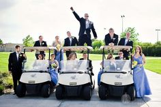 Golf course wedding.