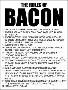 The Rules of Bacon | Mommy Has A Potty Mouth