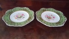 Dessert Plates, Time Shop, Gold Gilding, Fine China, Tea Time, 19th Century, Decorative Plates, Floral Wreath, My Etsy Shop