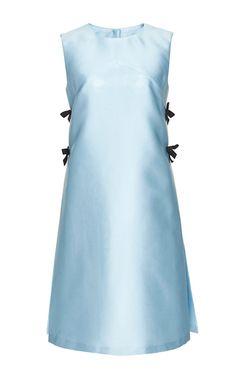 Scuba Duchess A Line Cocktail Dress by CAROLINA HERRERA Now Available on Moda Operandi