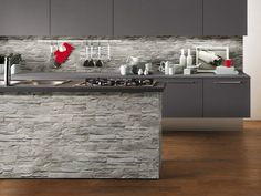 Gres Porcellanato Effetto Muretto in Pietra WALL DOLMEN Fumo 11X45,25 Oh My Home, Home Staging, Home Kitchens, Kitchen Cabinets, Interior Design, Wall, House, Inspiration, Home Decor