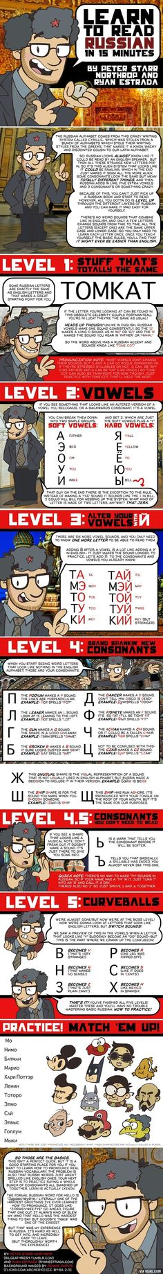 Learning #Russian alphabets in 15 minutes